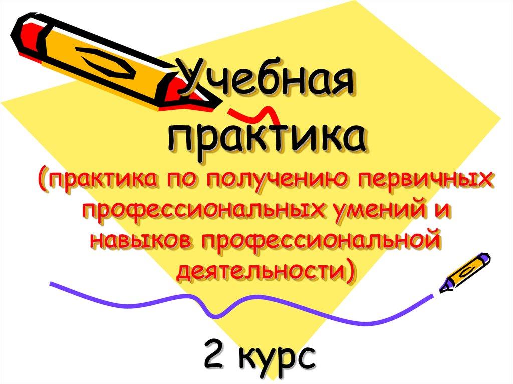 Учебная практика (по получению первичных профессиональных умений)